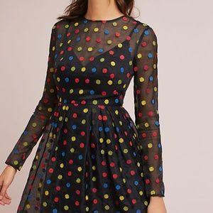ML Monique Lhuillier Polka Dot Dress (Petite Size)